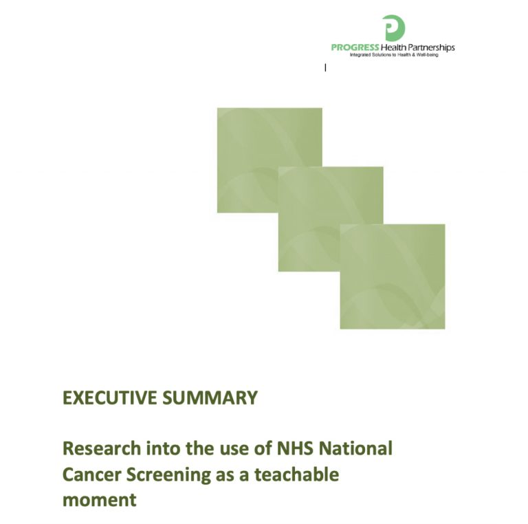 Greater Manchester Health and Social Care Partnership: Research Into the Use of NHS National Cancer Screening as a Teachable Moment